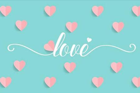 小清晰扁平风格爱情浪漫相册PPT模板