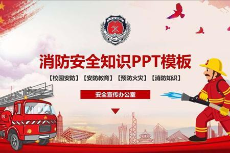 消防安全知识PPT课件模板