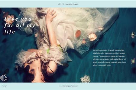 婚礼相册PPT模板