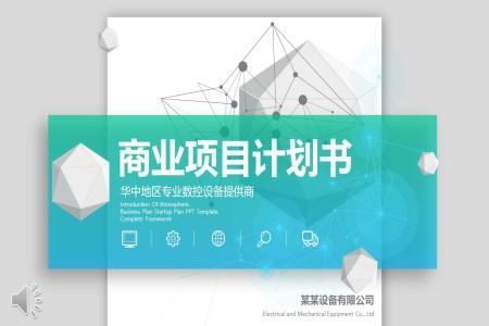 竖版风商务项目计划规划书PPT模板