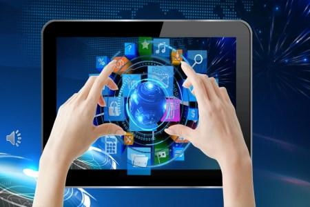 科技风商务工作总结汇报PPT模板
