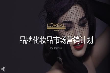 化妆品市场营销计划策划PPT模板