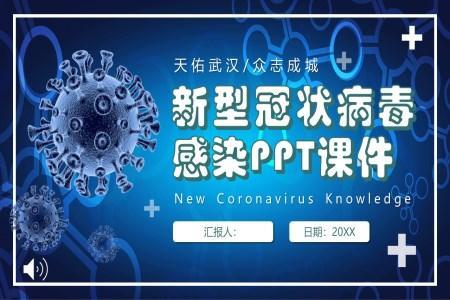 新型冠状病毒感染教育PPT模板