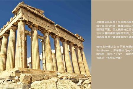 印象希腊旅游PPT模板