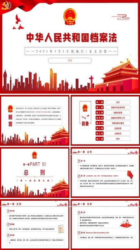 新修订的《中华人民共和国档案法》解读ppt