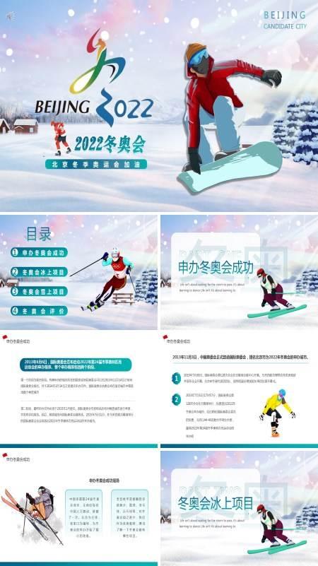 2022年北京冬奥会宣传介绍PPT模板