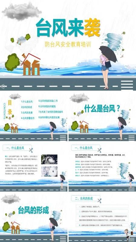 防台风安全教育知识培训PPT模板