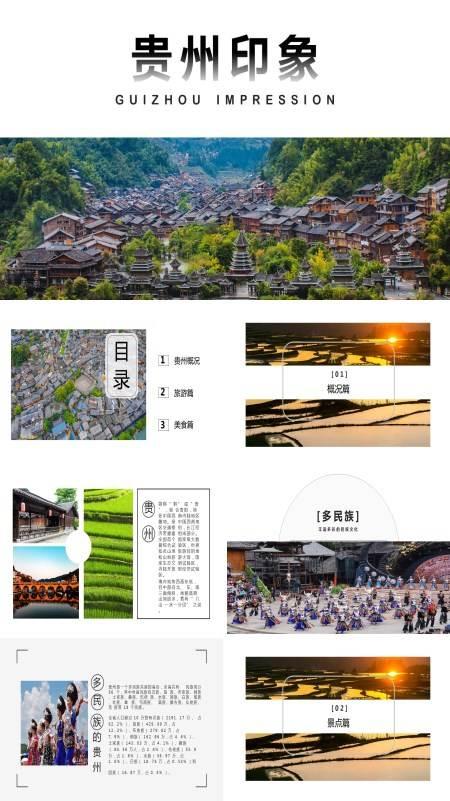 贵州印象贵州旅游风土人情介绍PPT